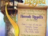 Tangled Birthday Invites Tangled Rapunzel Girl Customizable Birthday Invitation