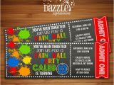 Target Birthday Invitation Cards 25 Best Ideas About Paintball Party On Pinterest