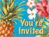 Target Birthday Invitation Cards 8ct Aloha Invitations Target