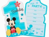 Target Birthday Invitation Cards 8ct Mickey Mouse 1st Birthday Invitations Target