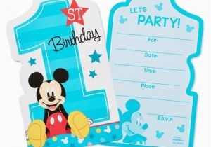 Target Birthday Invitation Cards 8ct Mickey Mouse 1st Invitations