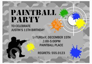 Target Birthday Invitation Cards Party Invitations Printable Paintball
