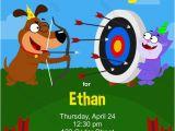 Target Birthday Party Invitations Archery Birthday Party Invitation Printable Birthday Invite