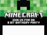 Target Birthday Party Invitations Minecraft Birthday Invitations Minecraft Birthday