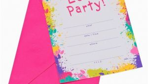Target Photo Birthday Invitations Neon Let 39 S Party Party Invitations 10 Count Target