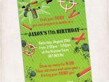 Target Photo Birthday Invitations Printable Nerf Birthday Invitation Digital by