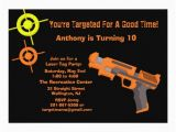Target Photo Birthday Invitations Target Laser Tag Birthday Party Invitation Zazzle