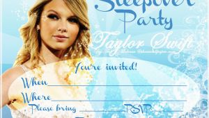 Taylor Swift Birthday Party Invitations Invitations for Sleepover Party