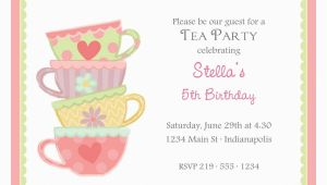 Teacup Birthday Invitations Free afternoon Tea Invitation Template