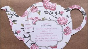 Teapot Birthday Invitations 1000 Ideas About Tea Party Invitations On Pinterest Tea