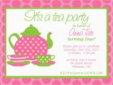 Teapot Birthday Invitations Custom Printable Tea Party Invitation