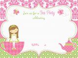 Teapot Birthday Invitations Free Printable Tea Party Invitation Template for Girl
