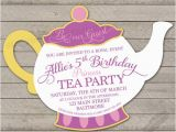 Teapot Birthday Invitations Princess Tea Party Birthday Party Invitation Teapot