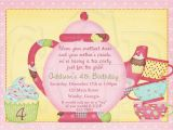 Teapot Birthday Invitations Tea Party Birthday Invitation Wording Best Party Ideas