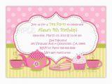 Teapot Birthday Invitations Tea Party Birthday Invitation You Print