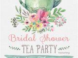 Teapot Birthday Invitations Tea Party Bridal Shower Invitations Wedding Shower Invite
