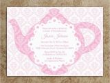 Teapot Birthday Invitations Tea Party Invitation Diy Printable Pdf Tea Party Invite