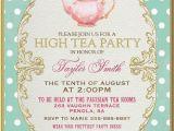 Teapot Birthday Invitations Tea Party Invitation High Tea Bridal Shower by