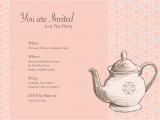 Teapot Birthday Invitations Teapot Invitations Template Best Template Collection