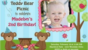 Teddy Bear First Birthday Invitations Teddy Bear Birthday Invitations Ideas Bagvania Free