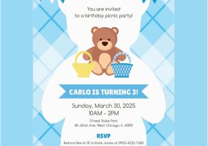 Teddy Bear Invitations for 1st Birthday 30 Birthday Invitation Designs Free Premium Templates