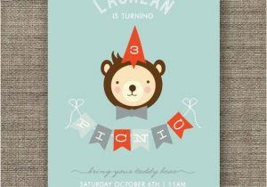 Teddy Bear Invitations for 1st Birthday Boys Teddy Bears Picnic Invitation 1st 2nd 3rd 4th 5th
