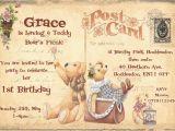 Teddy Bear Invitations for 1st Birthday Personalised Childrens 1st Birthday Teddy Bears Picnic