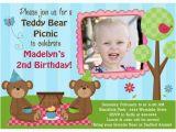 Teddy Bear Invitations for 1st Birthday Teddy Bear Birthday Invitations Ideas Bagvania Free