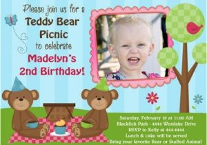 Teddy Bear Invitations for 1st Birthday Teddy Bear Birthday Invitations Ideas Bagvania Free