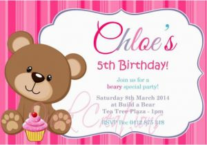 Teddy Bear Invitations for 1st Birthday Teddy Bear Birthday Invitations Lijicinu 283825f9eba6