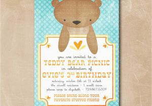 Teddy Bear Invitations for 1st Birthday Teddy Bear Birthday Party Invitations Best Party Ideas