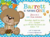Teddy Bear Invitations for 1st Birthday Teddy Bear Invitation Birthday Shower U Print by