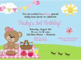 Teddy Bear Invitations for 1st Birthday Teddy Bear Picnic Birthday Party Invitation Teddy Bear