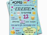 Teenage Birthday Invitation Wording 14 Best Emoji Party Ideas Images On Pinterest Birthday
