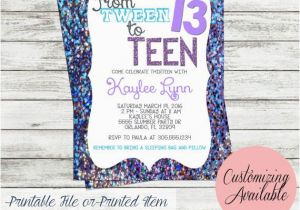 Teenage Birthday Invitation Wording Tween To Teen Party 13th