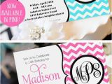 Teenage Birthday Invites Teen Girl Birthday Invitation Monogram Birthday Invitation