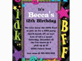 Teenage Birthday Invites Teen Talk Birthday Party Invitations Paperstyle