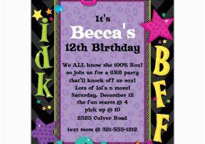 Teenage Birthday Invites Teen Talk Birthday Party Invitations Paperstyle
