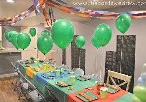 Teenage Mutant Ninja Turtles Birthday Decorations Teenage Mutant Ninja Turtles Party the Cards We Drew