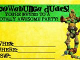 Teenage Mutant Ninja Turtles Birthday Invitations Free Birthday Invites Teenage Mutant Ninja Turtle Party