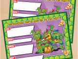 Teenage Mutant Ninja Turtles Birthday Invitations Free Free Printable Retro Tmnt Ninja Turtle Birthday Invitation