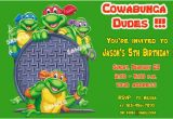 Teenage Mutant Ninja Turtles Birthday Invitations Free Free Printable Teenage Mutant Ninja Turtles Birthday