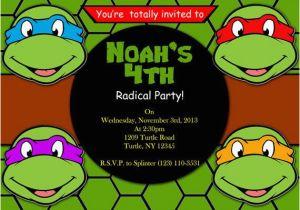 Teenage Mutant Ninja Turtles Birthday Invitations Free Printable Invitation By