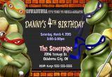 Teenage Mutant Ninja Turtles Birthday Invitations Free Teenage Mutant Ninja Turtle Birthday Party Invitations