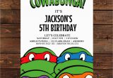 Teenage Mutant Ninja Turtles Birthday Invitations Free Teenage Mutant Ninja Turtle Invitation Printable