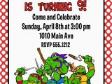 Teenage Mutant Ninja Turtles Birthday Invitations Free Teenage Mutant Ninja Turtles Birthday Party Invitation