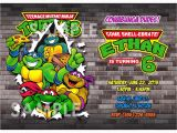 Teenage Mutant Ninja Turtles Birthday Invitations Free Teenage Mutant Ninja Turtles Invitation Printable Tmnt