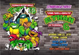 Teenage Mutant Ninja Turtles Birthday Invitations Free Invitation Printable Tmnt