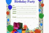 Templates for Birthday Invitations Free Free Birthday Party Invitation Templates Party