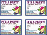 Templates for Birthday Invitations Free Free Printable Birthday Invitations Health Symptoms and